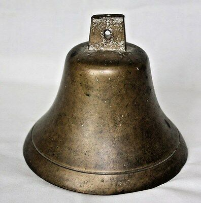 "Vintage Brass Ship Bell, 1.5lbs, 4 3/4"" x 4 1/2"""