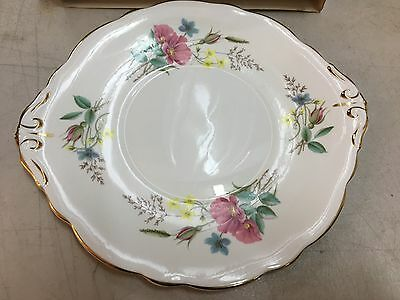 Vintage English Regency Bone China Floral Decorated Cake Sandwich Plate in Box