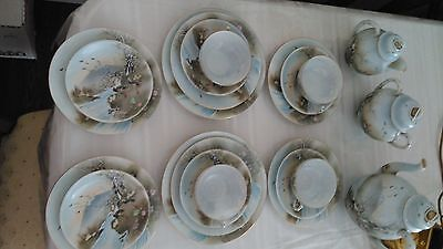 Antique Japanese Eggshell Export Ware Porcelain  Hand Painted,21 pieces