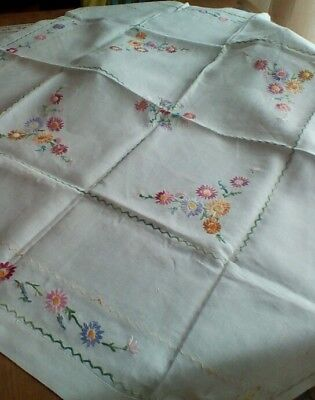 Vintage hand embroidered tablecloth.