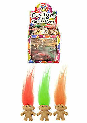 12 x Lucky Dip CHARM TROLLS PENCIL TOP Retro Prize Party Bag Toys Pinata Fillers