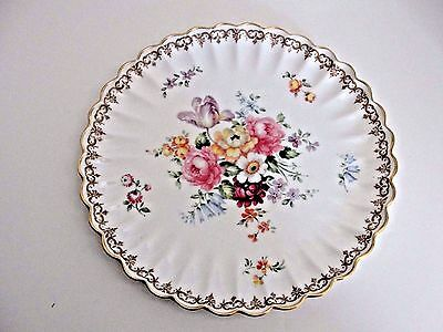 Crown Staffordshire England's Bouquet Cabinet Plate  .