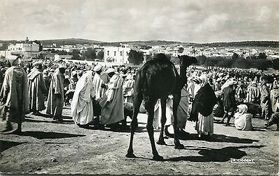 1930s postcard a Souk or Market in MOROCCO