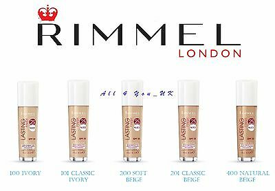 Rimmel Lasting Finish 25hr Nude Foundation  SPF20 - 30ml - Please Choose Shade