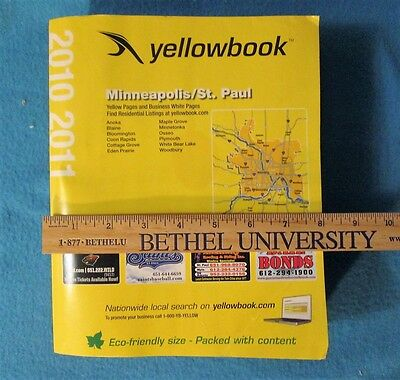 2010 Minneapolis St. Paul yellowbook Business Yellow pages Telephone Book