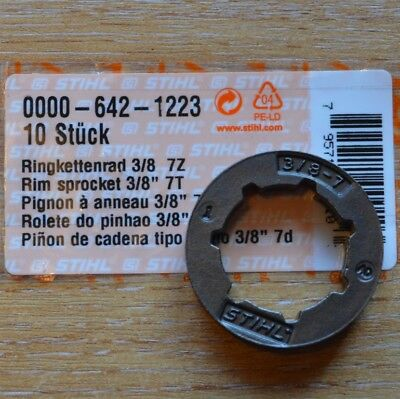 "Genuine Stihl .404/"" Rim Sprocket For 084 0000 642 1217 8 Slots Tracked Post"