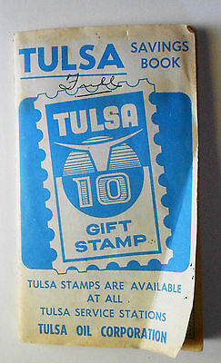 Tulsa Gas Station Oil Corporation full trading stamps booklet circa 1960's