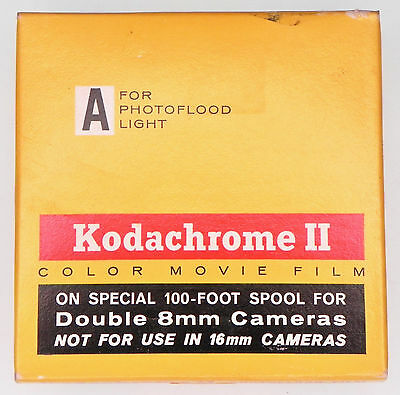Kodachrome II 100ft. Daylight Double 8mm Color Movie Film