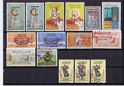 Iraq Flood relief Overprint 15 stamps ALL Different, MNH, read description
