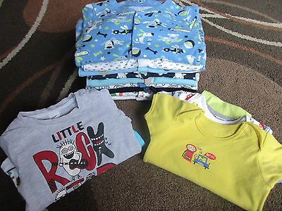 Baby Boy Bundle of Vests & Sleepsuits Size 9-12 months 20 items