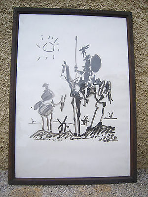 Lithographie Picasso Don Quichotte Signee Et Datee 1955