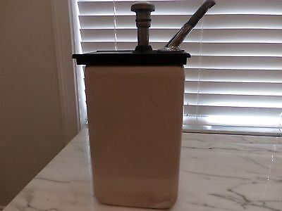 VINTAGE PORCELAIN SODA FOUNTAIN SHOP JERK SYRUP DISPENSER: Vanilla