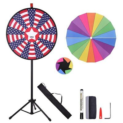 "WinSpinâ""¢ 30inches Prize Wheel w/ U.S. National Flag Designed 18 Segment Slots"
