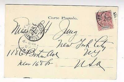 1904 Fort de France, Martinique, PPC, 10c Peace & Commerce to New York