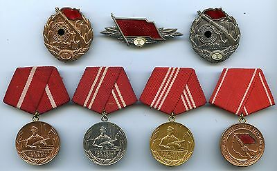 Old EAST GERMAN Medal and Badge Lot of the KAMPFGRUPPEN