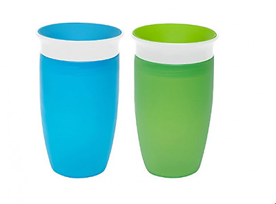 360 Sippy Cup Green Blue Kids Toddler Baby Child 2 Count Drink Boys BPA Free New