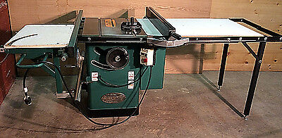 "Grizzly 10"" Arbor Tilting Table Saw w/Slider Attachment & Cabinet"