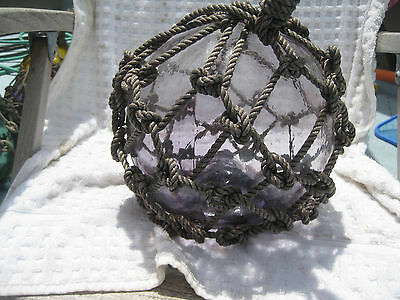 Japanese Glass Fish Net Floats -Purple Medium