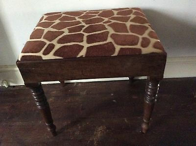 Upcycled funky victorian piano stool / foot stool / hall seat