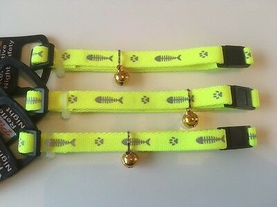 Reflective Cat Collar with Safety Buckle and Bell
