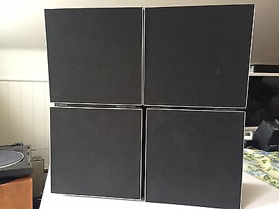 Vintage Pair of Bang & Olufsen BEOVOX S45 Speakers w/ Stands