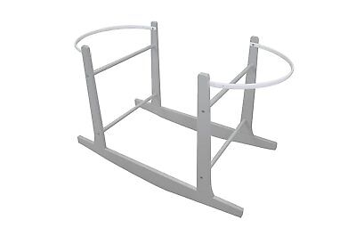 Cuddles Collection Rocking Stands Moses Basket Grey