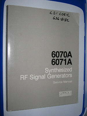 6070A Fluke Synthesized RF Signal Generators Operating And Service Manual