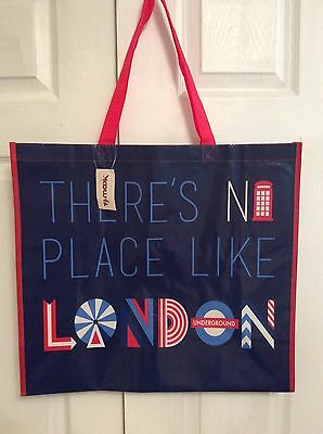 TJ MAXX Shopping Bag LONDON TRAVEL Tote Reusable Eco Friendly XL