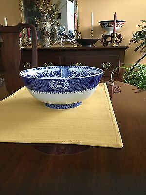 "Mottehedeh Imperial Blue Salad Bowl 9"" Diameter - 4"" Tall - MINT CONDITION!"