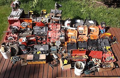 Humongous Lot Contractors Pwr & Hnd Tls Dzns Of Power Tools Hundreds Of Hnd Tls