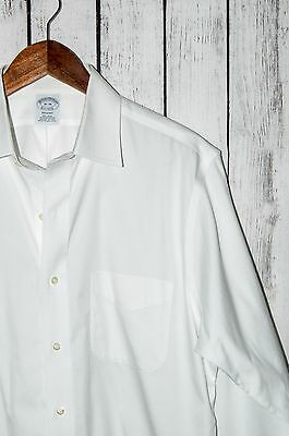 Brooks Brothers REGENT Fit Men's White Dress Shirt Non Iron Cotton 16 - 36