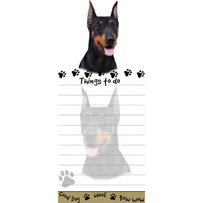 Doberman Pinscher Magnetic Post It Dog Breed Stationery Notepad