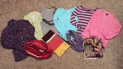 Womens Clothes Lot Small & XS Clothing Shirts Scarfs AE, Lucky, Banana Republic