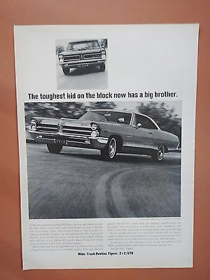 1965 Pontiac 2 + 2 Car Vintage photo Auto print ad