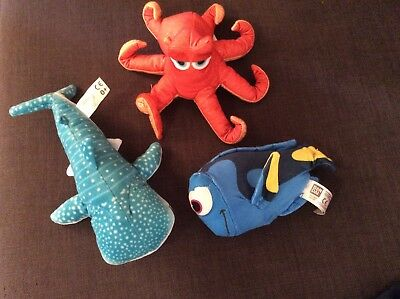 """Finding Dory Talking Dory Soft Toy Plush Hank Bailey Small 6""""  7"""" 9"""""""