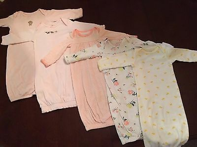 Girl Carter's 0-3 Months Infant gowns Lot **Free Shipping** newborn