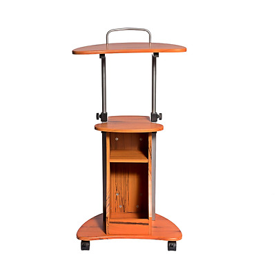 Mobile Portable Laptop Computer Rolling Cart Stand Table Storage Desk Podium