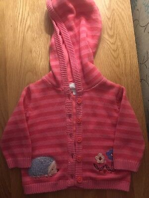 Girls BLUEZOO Hooded Cardigan 3-6 Months
