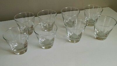 Lot of 8 Blakely Oil Gas Clear Glass Cactus Etched Arizona vtg 8 oz Old Fashion