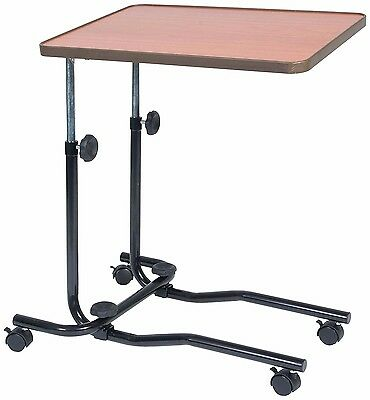 Healthcare Portable bed Chair Table Tilting Adjustable Wheeled tray adjustable