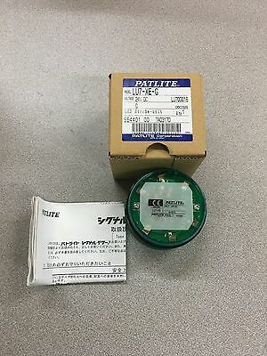 New In Box Patlite 24Vdc Green Led Strobe Unit Lu7-Xe-G