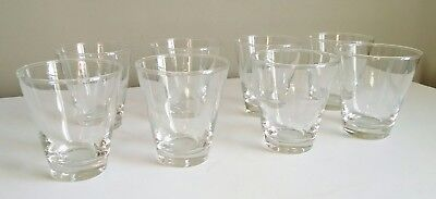 Lot of 8 Blakely Oil Gas Clear Glass Cactus Etched Arizona vtg 6 oz Rocks