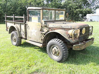1952 Dodge Other Pickups 3/4 ton military truck 1952 Dodge M37 military truck solid project similar 2 power wagon clear ks title