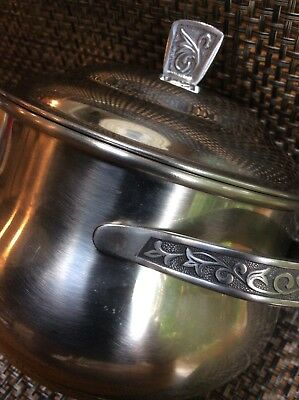 Vintage Monterey Hostess Server Pot with Lid, Stainless Steel Holloware #5924