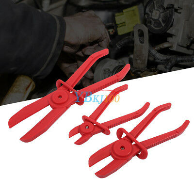 Flexible Nylon Hose Heaters Clamp Tool Brake Fuel Water Line Plier Set MF 3Pcs