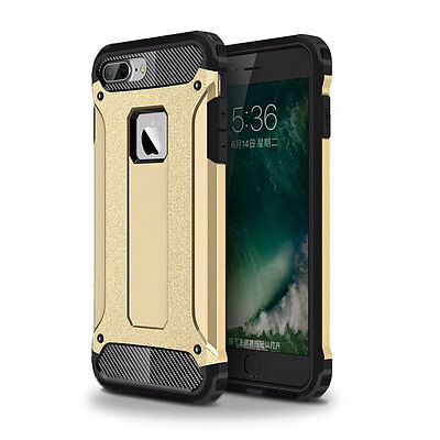 Shockproof Hybrid Rugged Rubber Armor Protective Case For iPhone 7 Plus Gold