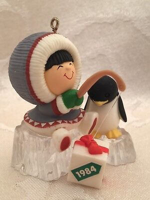 Hallmark Frosty Friends 1984 Fishing  Christmas Ornament 5th In Series