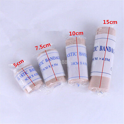 1 Roll Elastic First Aid Bandage Gauze Would Dressing Wrap Skin Color 4.5m AU
