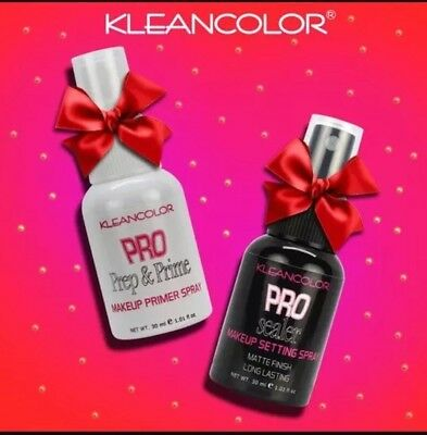 2x Kleancolor Makeup Primer & Setting Spray Makeup Stay in Place Free Ship