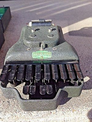 1930's Stenotype Machine with Course Book, Manual, Paper and More